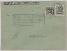 337 (2x) als MeF auf Fernbrief von Dorsten nach Berlin