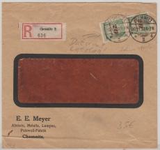 329 A (2x) in Mef Auf E.- Fernbrief von Chemnitz nach Berlin, vom Letztag der Inflation!