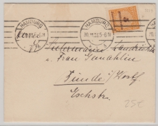 327 B als EF auf Fernbrief von Hamburg nach Bünde, vom 30.11.1923! Letzttag!