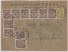 324 A + 325 BP (10x) auf Fernbrief von Fraustadt nach Berlin, geprüft Infla