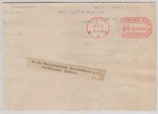 Freistempelbrief über 64 Mia., als Auslandsbrief von Leipzig nach Schaffhausen! Hoch interessant und selten! 28.11.23