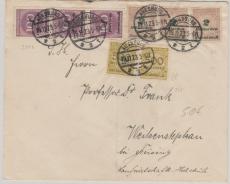 331b (3x) u.a. auf Fernbrief von Augsburg nach Weihenstephan