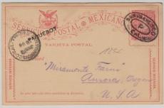 Mexiko 1896, GS aufgegeben an Bord des Paketboot (?) in der Bucht von San Francisco, hier abgestempelt, nettes Kuriosum