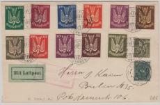 215- 218, 235- 37, 263- 67 u.a. auf Flugpostbrief von Nürnberg nach Berlin