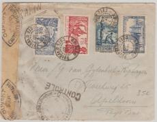 Cote d´Ivoire, 1940, nette MiF auf Zensur- Brief nach Holland