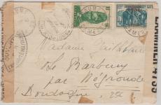Cameroun, 1940, nette MiF auf Zensurbrief