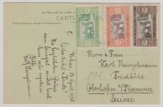 Senegal, 1925, nette MiF auf Postkarte