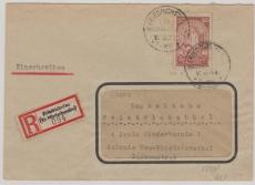 Nr.: 354 als EF auf Einschreiben- Ortsbrief innerhalb Friedrichsthal