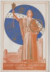 Nr.: 356 als EF auf schöner Werbepostkarte des Deutschen Museum München nach Homberg