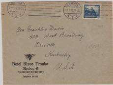 Nr.: 461 als EF auf Auslandsbrief von München nach Danville (USA)