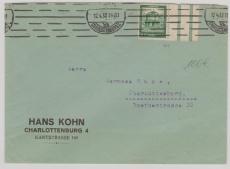 Nr.: 459 +Z als EF auf Ortsbrief innerhalb Berlin- Charlottenburgs