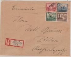 Bl. 1, Herzstück auf Einschreiben- Fernbrief von der IPOSTA (mit Stempel!) nach Zittau