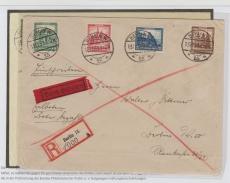 Nrn.: 459- 462, in MiF als Satz- Einschreiben- Ortsbrief innerhalb Berlins, Befund Schlegel