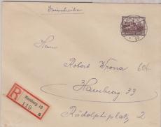 478 als EF auf Orts- Einschreiben innerhalb Hamburgs