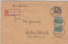 450 (2x) + 453 als MiF auf Fernbrief Einschreiben von Bad Liebenwerder nach Berlin