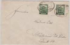 463 (2x) als MiF aif Fernbrief von Köln (?) nach Mülheim