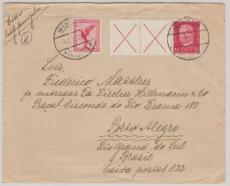 W30.2 +379, als MiF auf Auslandbrief von Minden nach Porto Alegre / Brasilien