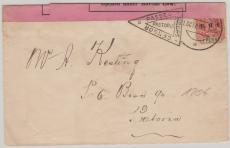 Pretoria, 1901, Burenkriegsbeleg mit div. Zensuren (Vs + Rs.)