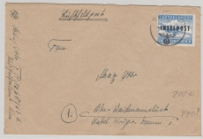 INSELPOST, Nr.: 8 B, auf Brief Rhodos nach Berlin, tiefstgeprüft Mogler BPP