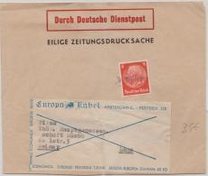 Zeitungsstreifband Durch Deutsche Dienstpost (Niederlande), von Amsterdam nach Weimar