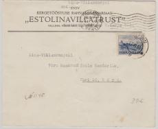 Estland Nr: 6 als EF auf Brief von Tallinn nach Vöru