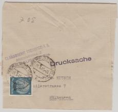 Elsass, Nr.: 2 als EF auf Zeitungsstreifband, Versand innerhalb Mülhausens! Sehr selten!!!