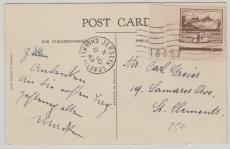 Jersey Nr.: 5 mit Plattennr. als EF auf Postkarte