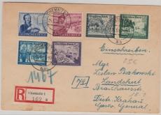 888- 93 in MiF auf Satz- Einschreiben- Fernbrief, von Chemnitz nach Landshut (GG)