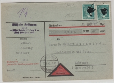 790 (2x) als MeF auf NN- Ortsbrief! Innerhalb Lübbenaus