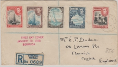 Bermuda, 1938, E.- Satzbrief FDC (dekoratives Stück!)
