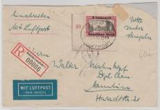 729 ER, auf Lupo- Einschreiben- Fernbrief, von Danzig nach Mannheim