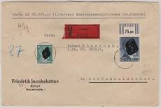 805 B vom OR + 790, auf Wert- Fernbrief von Erfurt nach Gräfenhainichen, Stempelabschlag ?