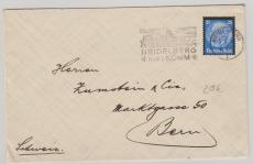 553 als EF auf Auslandsbrief von Heidelberg nach Bern