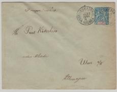 Neu Kaledonien, 1894, GS- Umschlag nach Ulm