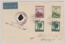 Österreichisch / Deutsche MiF vom Einmarsch 1938, mit entsprechendem Propagandastempel, von Salzburg nach Hamburg