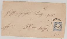 Nr. 26 als EF auf Briefhülle von Hungen nach Hamburg