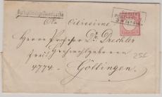 Nr. 19 als EF auf Fernbrief von Berlin nach Göttingen, mit Stempel Portopflichtige Dienstsache