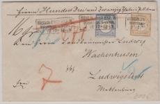 Nrn.: 20 + 22 als MiF auf wertbrief von Berlin nach Ludwigslust! Echte Bedarfsphilatelie, schön und selten!