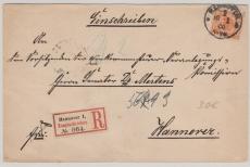Nr.: 49 als EF auf Ortseinschreiben innerhalb Hannovers
