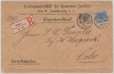 Nrn.: 45 + 48 als MiF als / auf Einschreiben- Drucksache- Fernbrief von Berlin nach Calw, extrem selten!