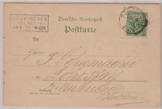 Nr.: 46 aa, als EF auf Postkarte von Bergedorf nach Lohrsdorf / Neukirchen, doppelt gepr. Wiegand BPP