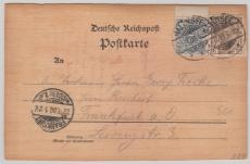 Nrn.: 52 + 54b als MiF auf Holzpostkarte (Ahorn)! Von Halensee nach FF/O, tiefstgeprüft Jäschke- L. BPP