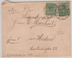 Nrn.: 46 + 55 zusammen auf Fernbrief von Spandau nach Kosten