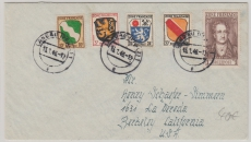 FRZ Nrn.: 5 u.a. auf Auslandsbrief nach Berkeley, USA