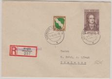 FRZ Nrn.: 5 u.a. in MiF auf Einschreiben- Ortsbrief innerhalb Büsingen´s