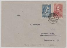 FRZ Nrn.: 12 + 13 als MiF auf Fernbrief von Koblenz nach Neuwied