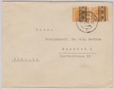 45 I (2x) als MeF auf Auslandsbrief in die Schweiz