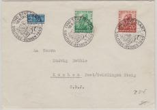 Nr.: 106- 7 als Satz- Fernbrief von Stuttgart nach Kuchen (???) S.B.J.