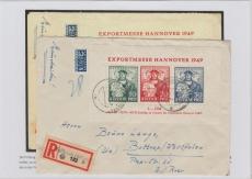 Bl. 1, als EF auf Einschreiben- Fernbrief von Fellbach nach Bonn, Befund Schlegel BPP