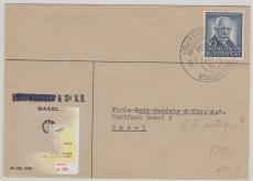 Nr.: 176 als portogerechte EF auf Auslandsbrief von Hannover nach Basel